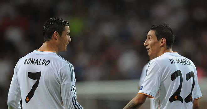 Cristiano Ronaldo and Angel Di Maria: Both scored two goals for Real