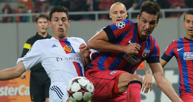 Match action from Steaua v Basel