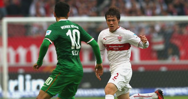 Gotoku Sakai in action for Stuttgart