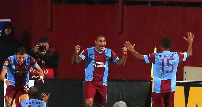 Tranzonspor: Celebrate goal against Lazio