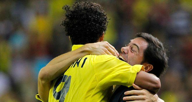 Giovani Dos Santos celebrates after scoring for Villarreal