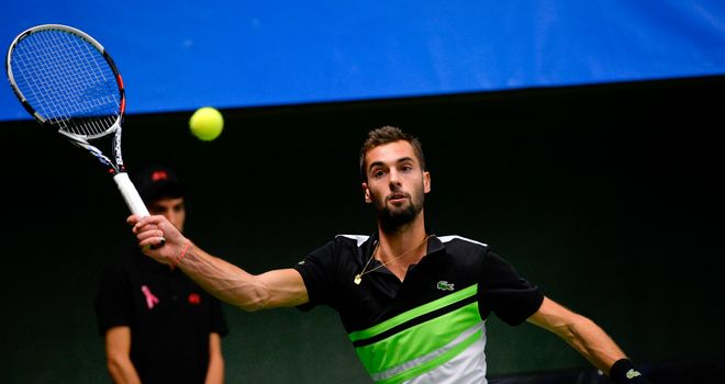 Benoit Paire: Frenchman broke Milos Raonic's serve twice during 7-6 6-3 win