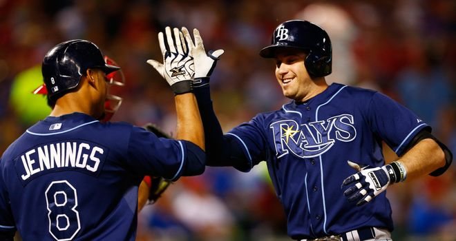 Evan Longoria (R): Scored a two-run homer in the third inning