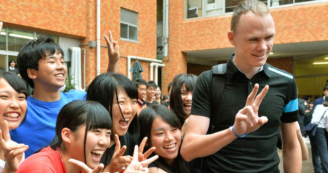 Chris Froome is in Japan for the Criterium de Saitama