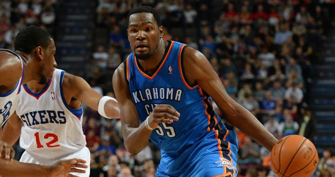 Oklahoma City Thunder's Kevin Durant enjoyed playing in Manchester