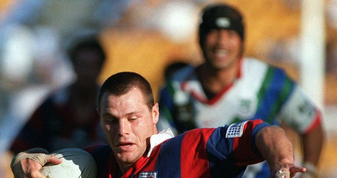 Lee Jackson: In action during his spell in Australia with Newcastle
