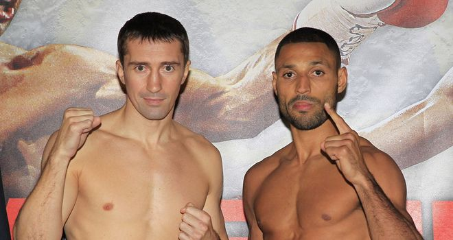 Senchenko and Brook were both right on the mark at Friday's weigh-in (Pic Lawrence Lustig)