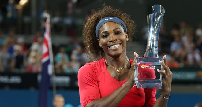 Serena Williams will defend her title in Brisbane in January