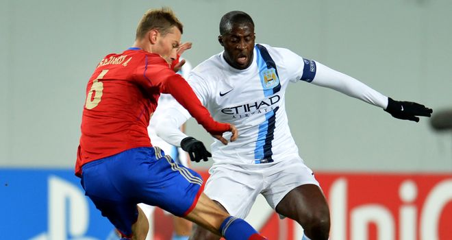 Yaya Toure: Manchester City midfielder in action against CSKA Moscow