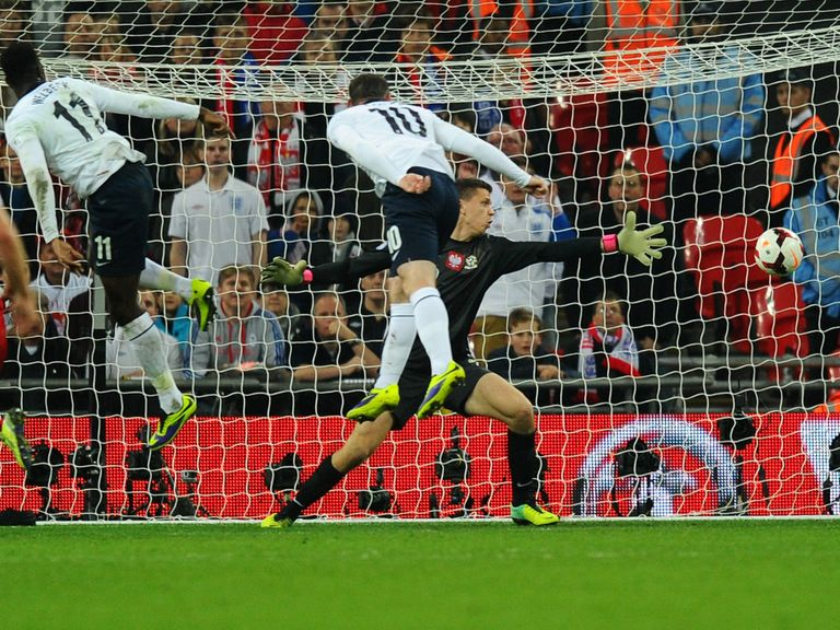 Wayne Rooney's header v Poland helps England qualify for the World Cup