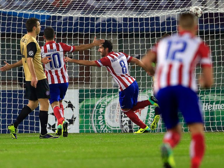 Raul Garcia: Celebrating a goal for Atletico Madrid