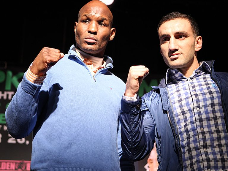 Bernard Hopkins (l) faces Karo Murat on Saturday night