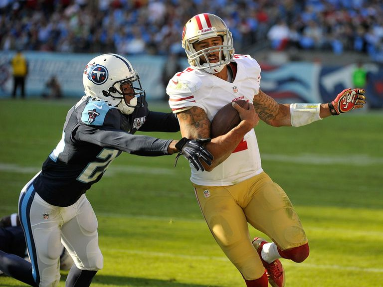 Colin Kaepernick: Threw for 199 yards, as well as running for 68 and a touchdown