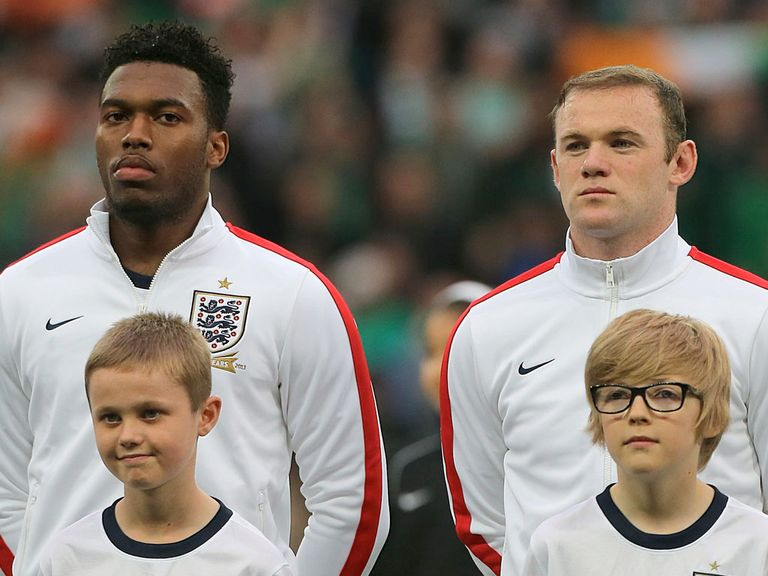 Sturridge (l) and Rooney have played just 30 minutes together