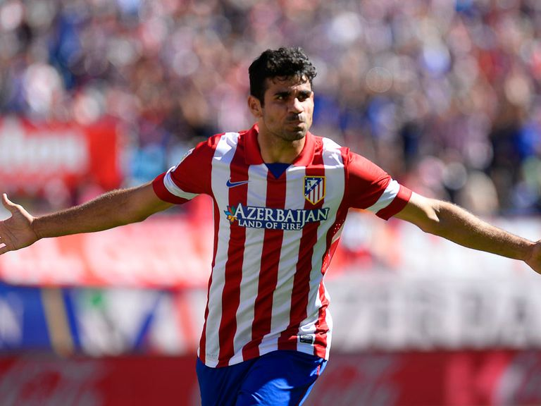 Diego Costa scored twice in Atletico win