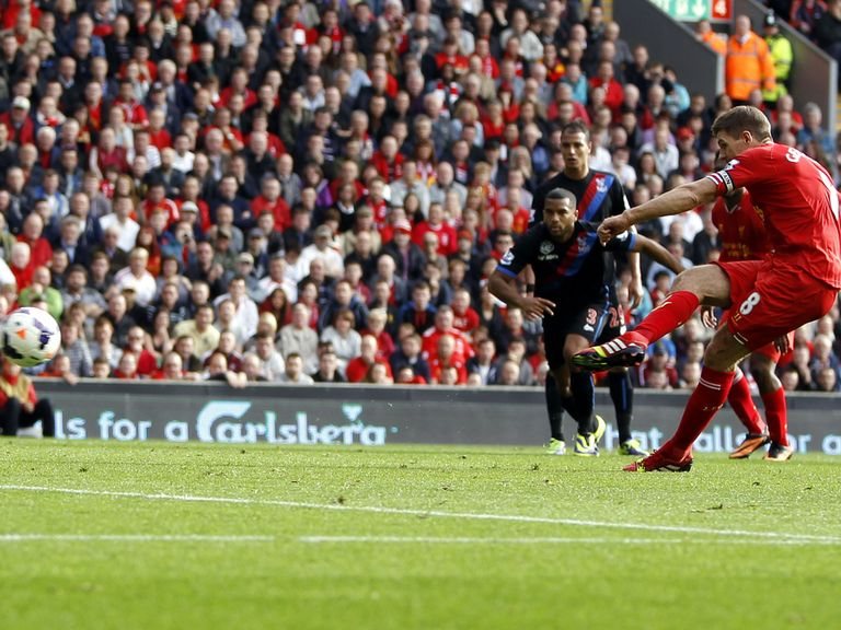 Steven Gerrard scored in Liverpool's 3-1 win over Palace