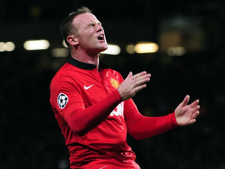 Wayne Rooney couldn't add to his side's tally at Old Trafford