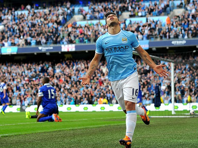 Sergio Aguero: On the score sheet for Manchester City