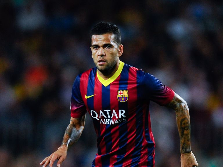 Dani Alves: Continues to be linked with a summer move away from Barcelona