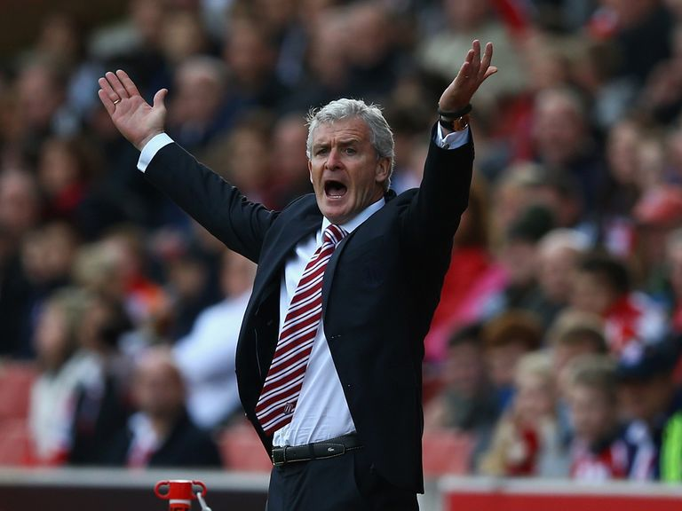 Mark Hughes: Hoping for a spot of luck at Old Trafford