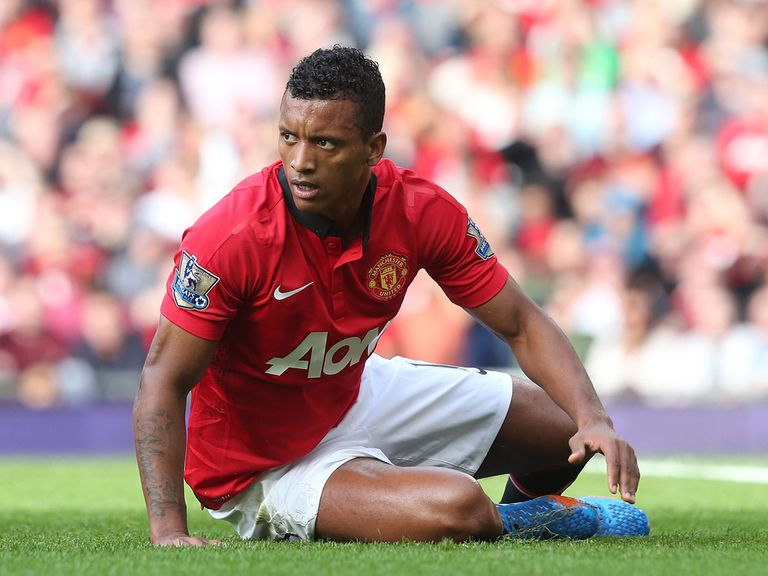 Nani: Booed off at Old Trafford on Saturday v Stoke