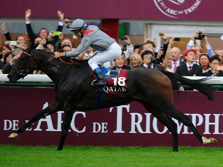 Treve wins the Arc under Thierry Jarnet