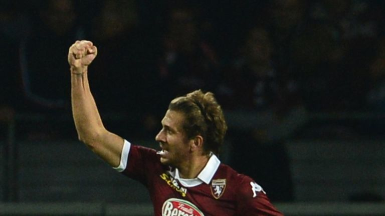 Alessio Cerci celebrates his goal for Torino