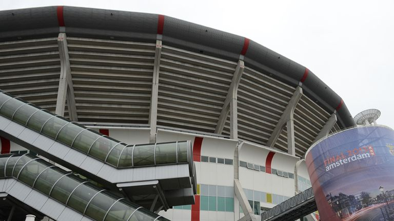 Amsterdam ArenA: Fan injured after fall in stadium