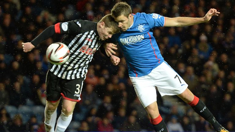 Andy Little: Injured in clash of heads with Alex Whittle of Dunfermline