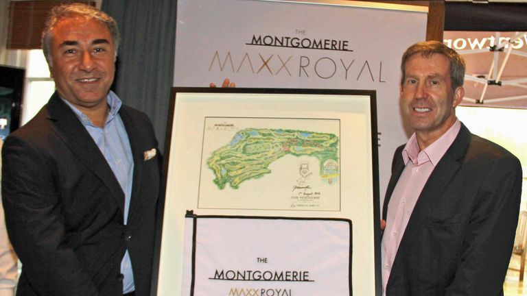 Cahit Sahin (left) - General Manager of The Montgomerie Maxx Royal