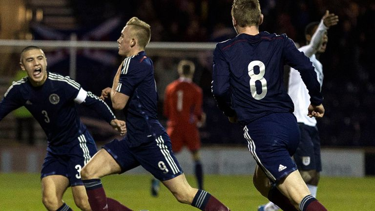 Miller: Bags the crucial goal in Scotland U16s' win over England
