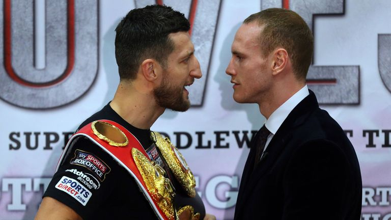 Fight Night: Groves is attracting more bets with the bookmakers but Froch is their favourite