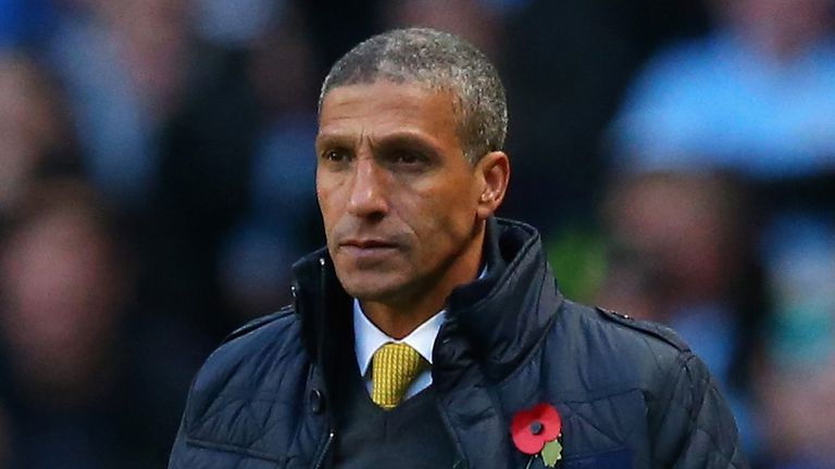 Chris Hughton: Norwich boss happy to be out of the relegation zone