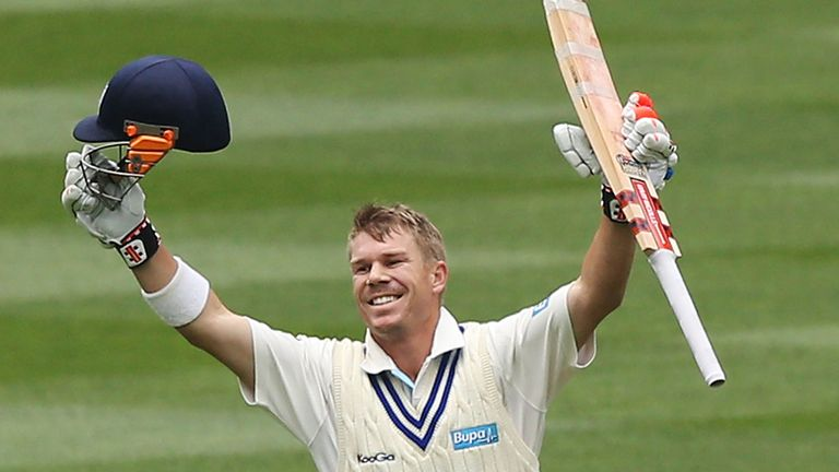 David Warner celebrates another century for New South Wales