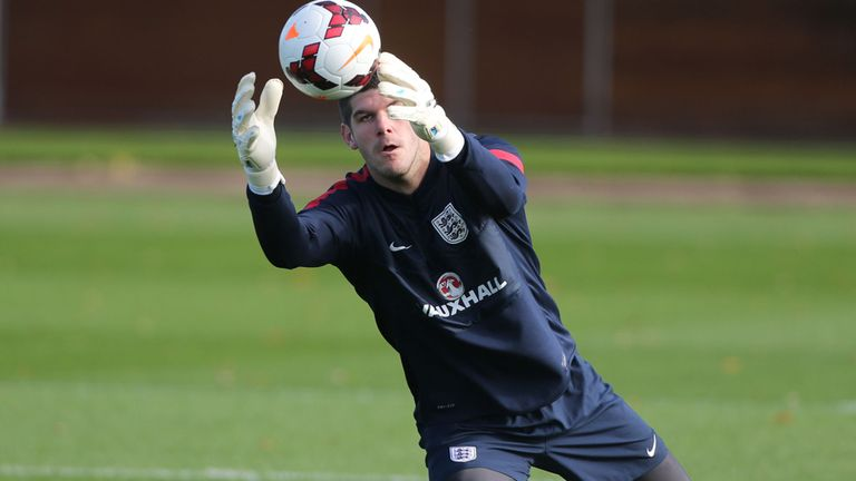Fraser Forster: In training ahead of his England debut last November