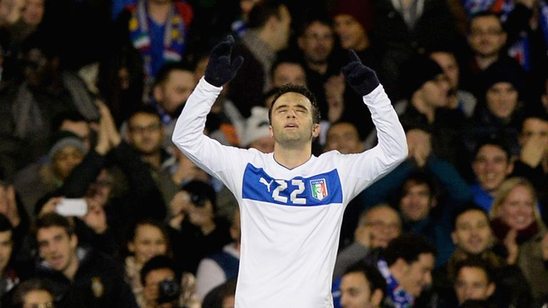 Guiseppe Rossi: Celebrates opening the scoring