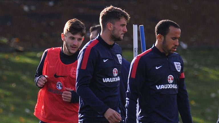 Wildcards: Can Lallana (left) and Rodriguez (centre) follow Andros Townsend into England's World Cup reckoning?