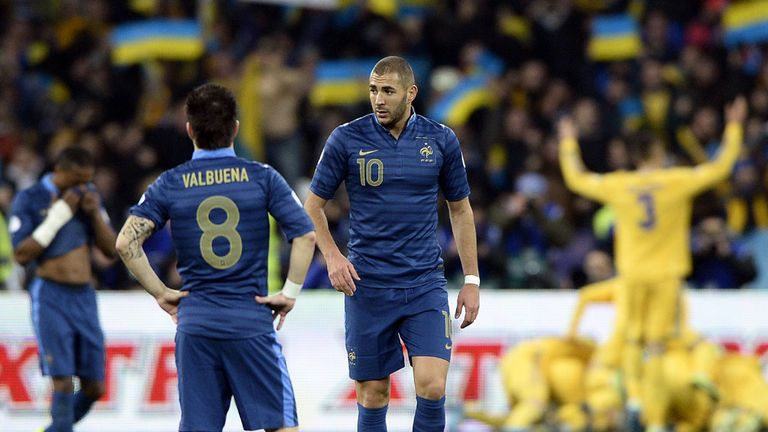 France endured a miserable night in Kiev last week