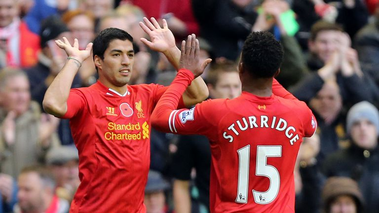 Luis Suarez and Daniel Sturridge: Have scored a combined 18 goals this season