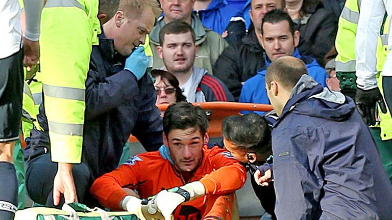 Hugo Lloris: Spurs goalkeeper was knocked out during accidental clash with Romelu Lukaku on Sunday