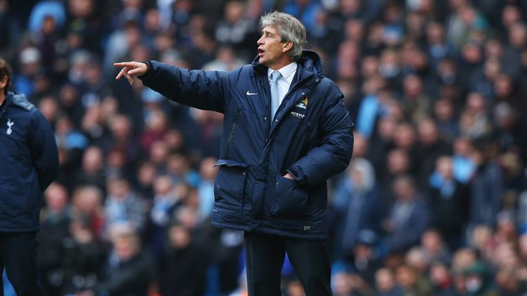 Manuel Pellegrini: Delighted with Manchester City against Tottenham