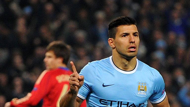 Aguero: has netted 13 times in 13 games for City this season