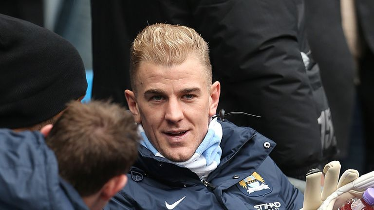Joe Hart: On the bench for City's past four games