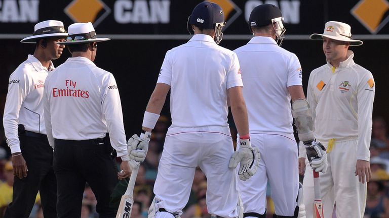 Michael Clarke, right, was fined 20 per cent of match fee for his on-field spat with James Anderson