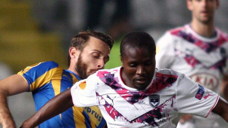 Landry N Guemo holds off Nektarios Alexandrou Landry