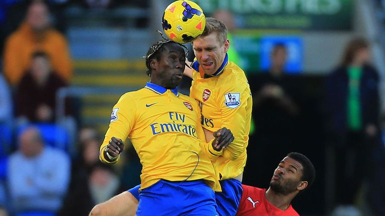 Bacary Sagna and Per Mertesacker: Cornerstones of improved Arsenal defence
