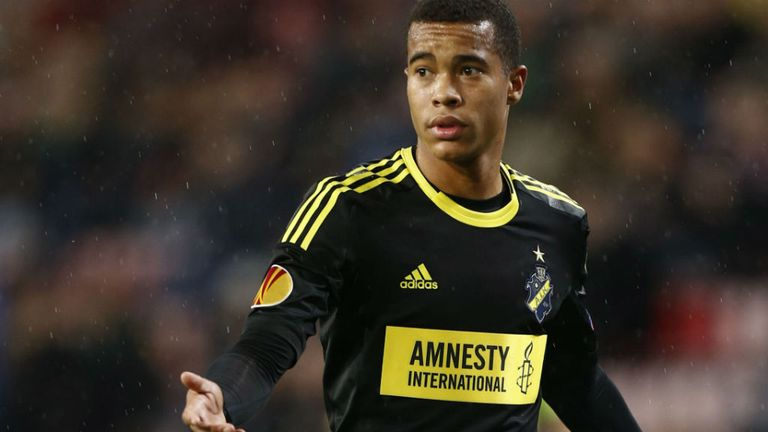 Robin Quaison: The 20-year-old AIK midfielder has already been capped twice by Sweden