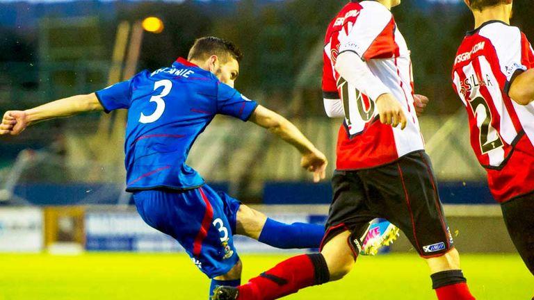 Graeme Shinnie: Scores the second Inverness goal against Kilmarnock