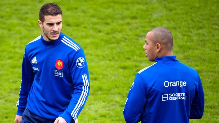 Sofiane Guitoune (L) and Gael Fickou: Will make France debuts