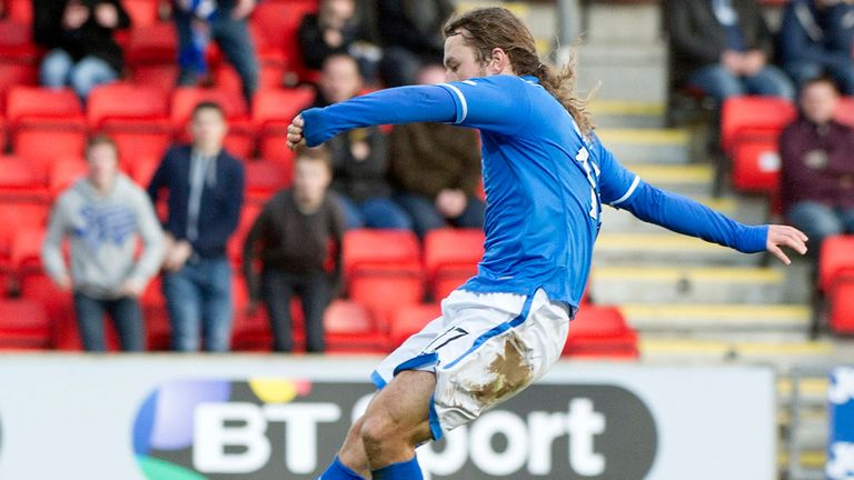 Stevie May: Striker happy with St Johnstone